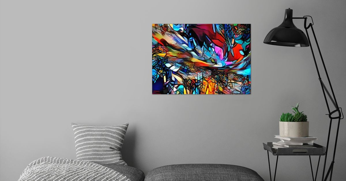 'Magical Fireworks Feelings' Poster Print by ACR ACR | Displate