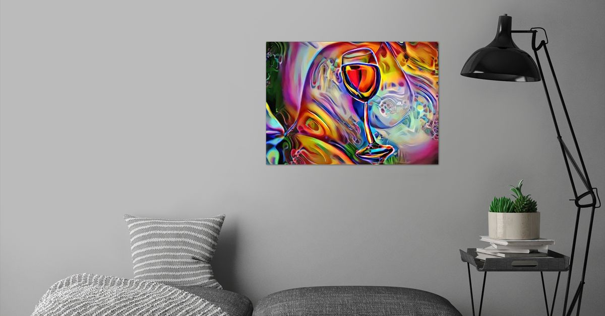 'Wine The Dreamer' Poster Print by ACR ACR | Displate