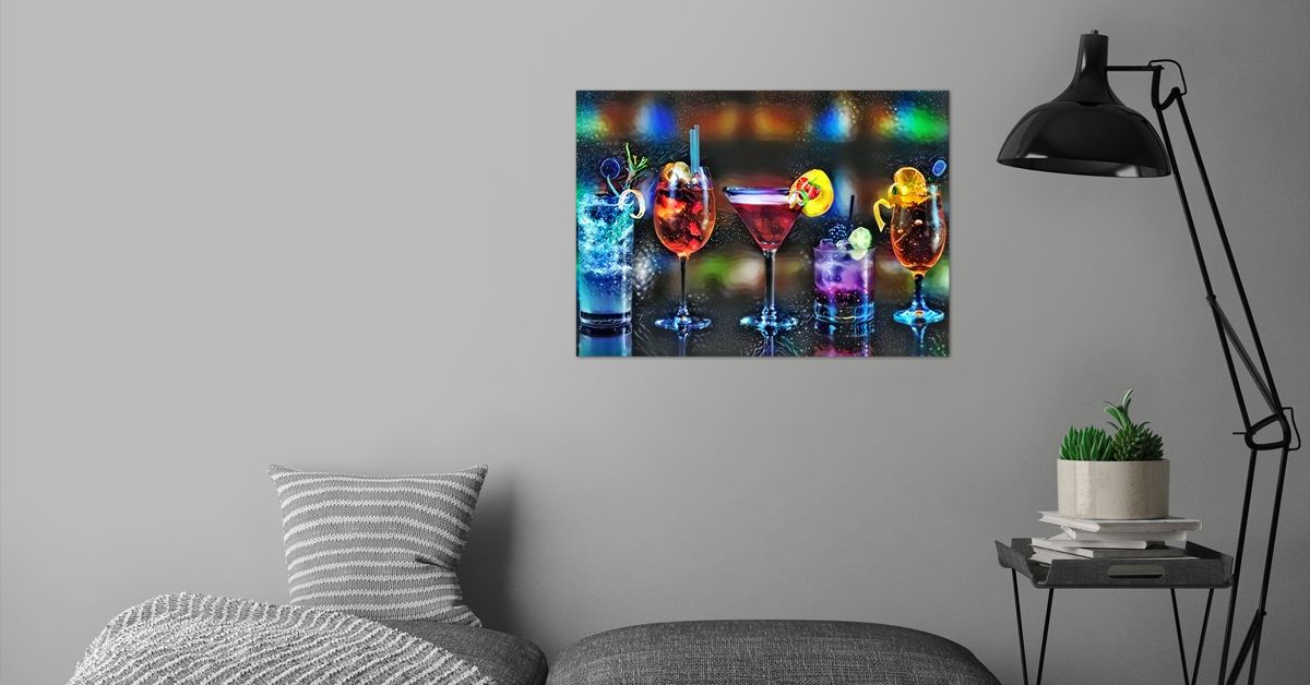 'Wine The Conqueror' Poster Print by ACR ACR   Displate