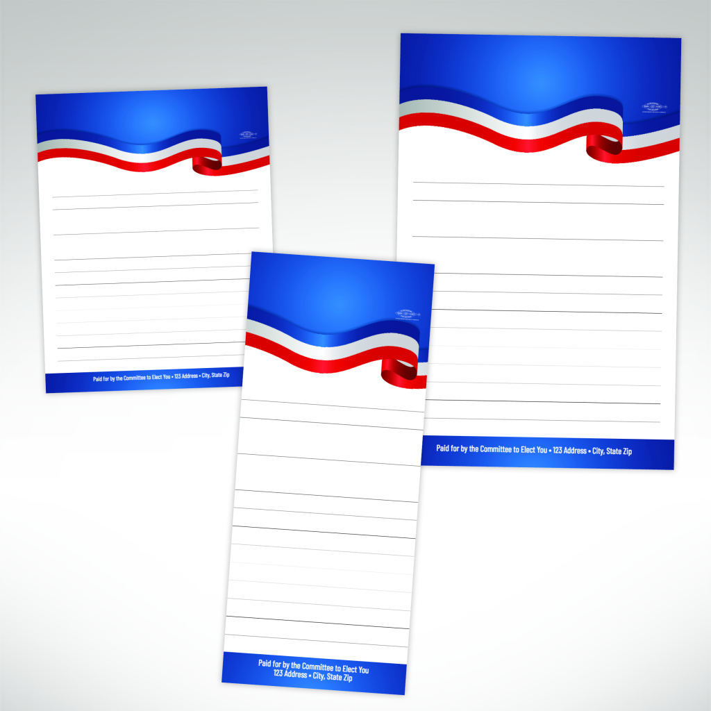 Scratch Pads Design For Political Campaign | Persnolised Scratch Pad Design