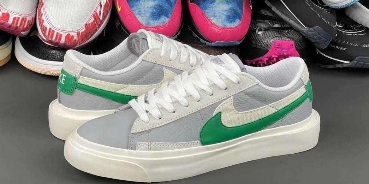 Most Popular sacai x Nike Blazer Low Medium Grey Green DD1877-001