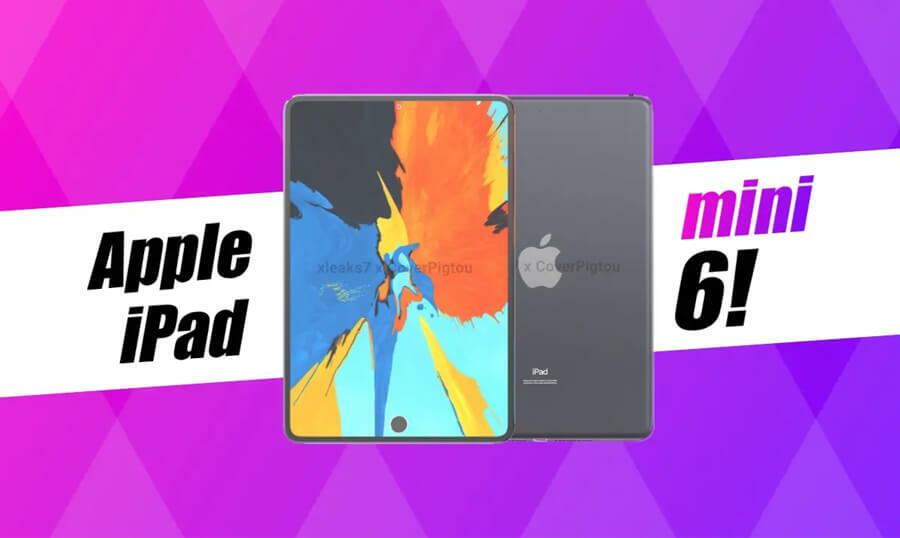 iPad mini 6 xuất hiện với viền bezels mỏng, cảm biến Touch ID nằm trong màn hình | Phúc Khang Mobile