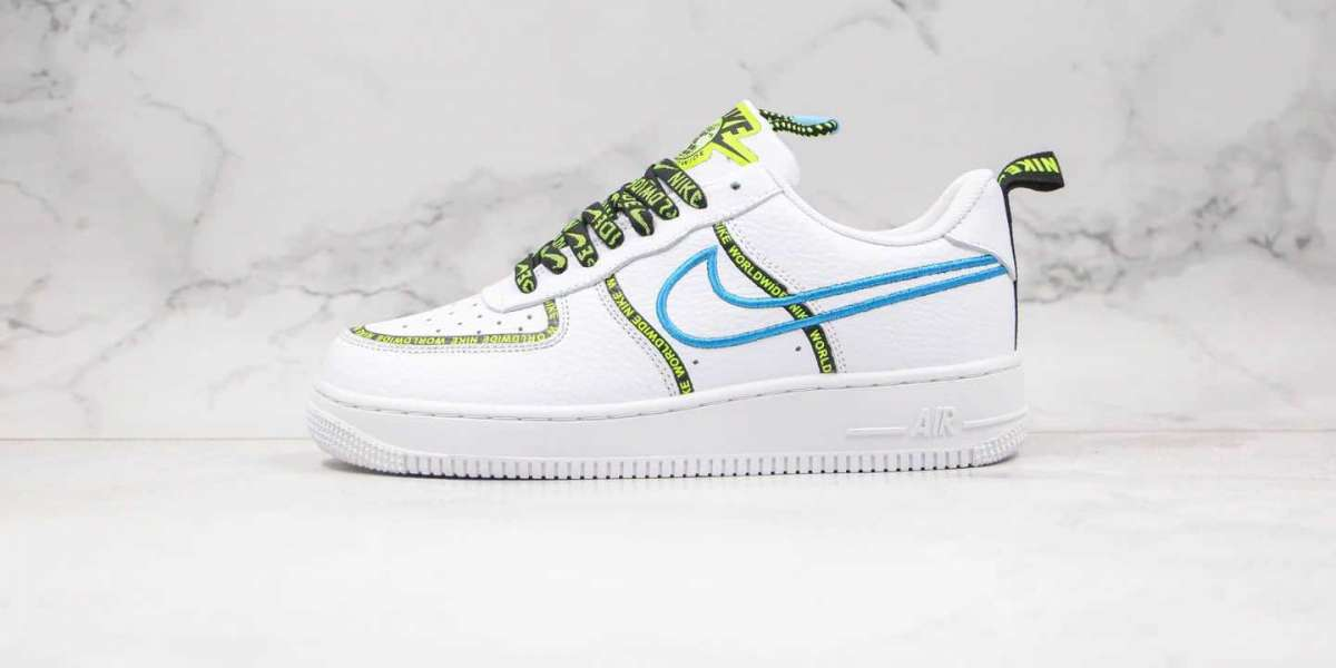 CK7213-100 Nike Air Force 1 07 PRM Worldwide White Sky Blue Hot Sale